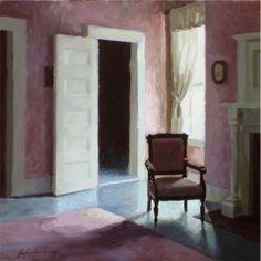 """Paul Schulenburg Rose Room oil on panel 12"""" ..."""