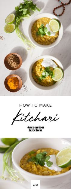 How to make Kitchari – a cleansing and healing Ayurvedic dish, balancing to all doshas (constitutions). Mung beans, basmati, spices. Vegan.