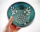 Pottery berry bowl, Modern home decor, wedding gift (in stock )