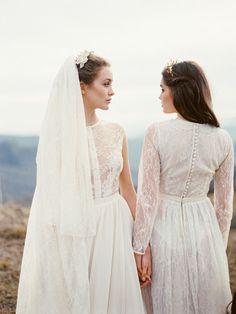 Beautiful Victorian lace wedding dresses - be still my heart