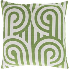 Turnabouts Forest & Ivory Pillow design by Florence Broadhurst