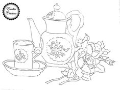Embroidery, Quilts, Wallpaper, Tableware, Kitchen, Coffee, Painting Tricks, Teapot, Painting On Fabric