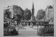 BERLIN 1950. Kinderspielplatz auf dem Friedrich-Wilhelm-Platz in Fridenau