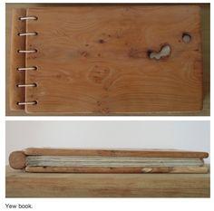 wooden book cover Encuadernación con madera