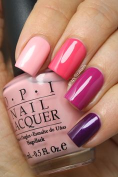 OPI: Italian Love Affair ~ Feelin Hot Hot Hot ~ Dim Sum Plum, ~ Louvre Me Louvre Me Not