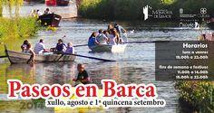 Paseos en barca por el río #Cabe en #MonforteDeLemos #Lugo #Spain
