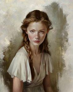 Female Portrait, Portrait Art, Female Art, Young Female, Digital Portrait Painting, Character Portraits, Character Art, Female Character Concept, Fantasy Inspiration