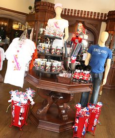Commemorative Olympic Merchandise at the United Kingdom Pavilion in Epcot