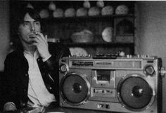 Paul Weller and his Sharp GF-305 boombox. Who created the 305?