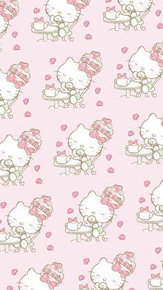 Hello Kitty Backgrounds, Hello Kitty Wallpaper, Kawaii Wallpaper, Hello Kitty Pictures, Sanrio Hello Kitty, My Melody, Cute Pattern, Cute Wallpapers, Pink Purple