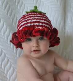 HAT Christmas white red/burgundy boy girl unigender newborn