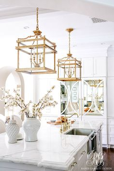 Remodeling Kitchen Lighting Randi Garrett DesignA white kitchen with white Chinese porcelain and a pair of Chinese lanterns. - Randi Garrett DesignA white kitchen with white Chinese porcelain and a pair of Chinese lanterns. White Kitchen Cabinets, Kitchen Cabinet Design, Kitchen Interior, Kitchen Decor, Kitchen Ideas, Kitchen Lamps, Kitchen Trends, Interior Doors, Interior Design
