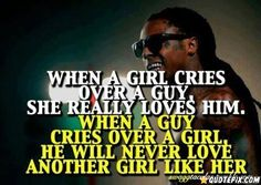 When A Girl Cries Over A Guy..