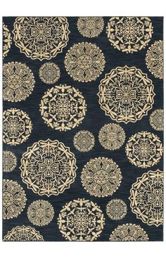 Shaw Bob Timberlake Queen Anne S Lace Navy Rug