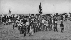 Blackfeet (Pikuni) dancers near Browning, Montana - 1910