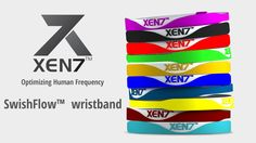 XEN7 SwishFlow™ wristbands in different colours.