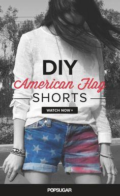 DIY Cute American Flag Shorts