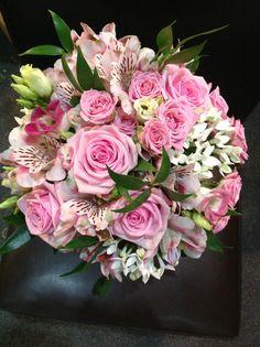 Rose bouvardia & alstromeria bridal bouquet