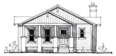 House Plan 73885   Country Historic Plan with 1568 Sq. Ft., 3 Bedrooms, 2 Bathrooms