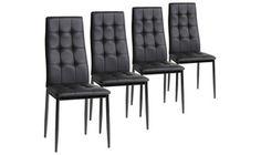 Groupon - Set de 4 sillas tapizadas Sofia en color blanco o negro por 89 € (64% de descuento). Precio Groupon: 89€