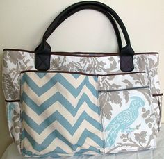 homemade diaper bag. amaaaazing. @Cori Ashley- but with a cross body strap instead of handles?