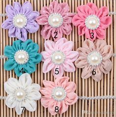 Discount Baby Headband Accessories Diy Fabric Flowers Pearl Rhinestone Diamond Dot Flower For Kids Headwear Hair Handmade Accessories Aw62 From China | Dhgate.Com