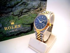 A gents stainless steel and 18ct yellow gold Rolex 'DateJust' circa 2001.
