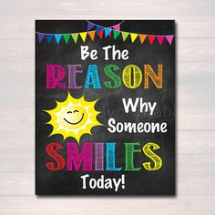 Teacher Signs Discover Be the Reason Someone Smiles Today School Counselor Poster Teen Bedroom Decor Classroom Wall Art Office Decor Motivational Class Poster Be the Reason Someone Smiles Today School Counselor Poster Classroom Walls, Classroom Posters, School Classroom, Classroom Decor, Teacher Posters, Teacher Signs, Classroom Design, Future Classroom, Teacher Stuff