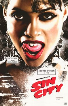 Sin City Gail Rosario Dawson Frank Miller Movie Poster 22x35