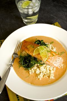 This delicious red curry salmon recipe is super simple and quick, but packs a punch in the favor department. Perfect healthy meal for busy weeknights!