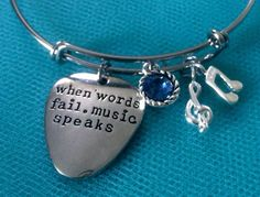 A personal favorite from my Etsy shop https://www.etsy.com/listing/384794894/love-bracelet-music-bracelet-quote