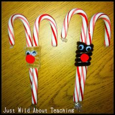 Just Wild About Teaching: Candy Cane Treats and Snowman Ornaments!