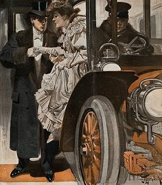 A night at the theatre by J C Leyendecker (German/American American Illustration, Illustration Art, Jc Leyendecker, Retro, Illustrations Vintage, Wow Art, Norman Rockwell, Traditional Paintings, Art For Art Sake