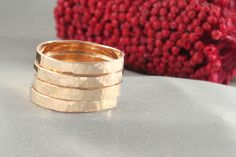 A personal favorite from my Etsy shop https://www.etsy.com/il-en/listing/275338668/on-sale-stacking-rings-14k-gold-14k-gold