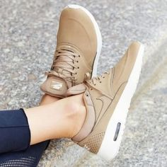 Nike Air Max Thea Premium Leather in Desert Camo Highly