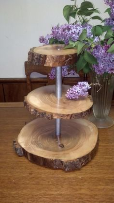 Rustic Wooden Cupcake Stand on Etsy, $60.00