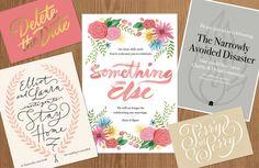 tipografia ilustração e design jessica hische cartões de casamentos cancelados