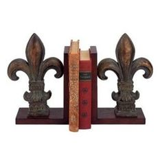 Your shelves deserve to feel stylish, too! The Classic Fleur de Lis Bookends from Old World Design create some chic company for your books and kni.