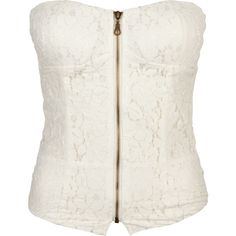 FULL TILT Lace Zip Womens Corset ($22) ❤ liked on Polyvore