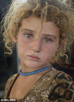 A Yazidi refugee child in Zakho, Iraq