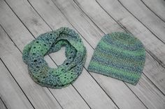 Scarf and Slouchy Hat Crochet Set by Mandyssewingroom on Etsy