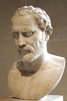 Demosthenes (384–322 BC) was a prominent Greek statesman and orator of ancient Athens. His orations constitute a significant expression of contemporary Athenian intellectual prowess and provide an insight into the politics and culture of ancient Greece during the 4th century BC. , For a time, Demosthenes made his living as a professional speech-writer (logographer) and a lawyer, writing speeches for use in private legal suits.