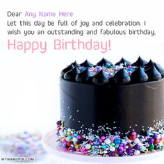 Lovely Happy Birthday Wishes With Name Its