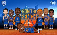Comics Team x Knicks 2013   From Da Bench