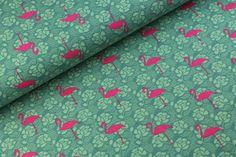 Flamingo Lace Tricot Oud Groen - Megan Blue Fabrics - De Stoffenstraat | De Stoffenstraat