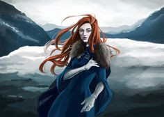 Sansa Stark fanart because why not, she's one of my fav characters…uhh… watch GRRM kill off her character after this TT_TT But OMG srsly winter is here guys!