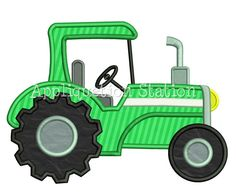 Tractor Boy Applique Machine Embroidery by AppliquetionStation