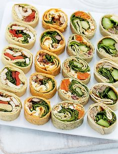 20 Party Mini Wrap Slices Food