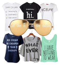 Talking Ts by chong-yanting on Polyvore featuring polyvore, fashion, style, Chicnova Fashion, Tee and Cake, Boohoo and Linda Farrow