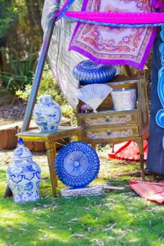 Bollywood Side Table & Letter Stand www.capeoflove.com